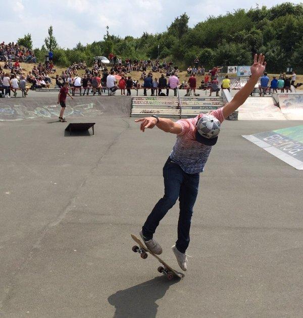Skatekontest Scavenger Hunt Studenten