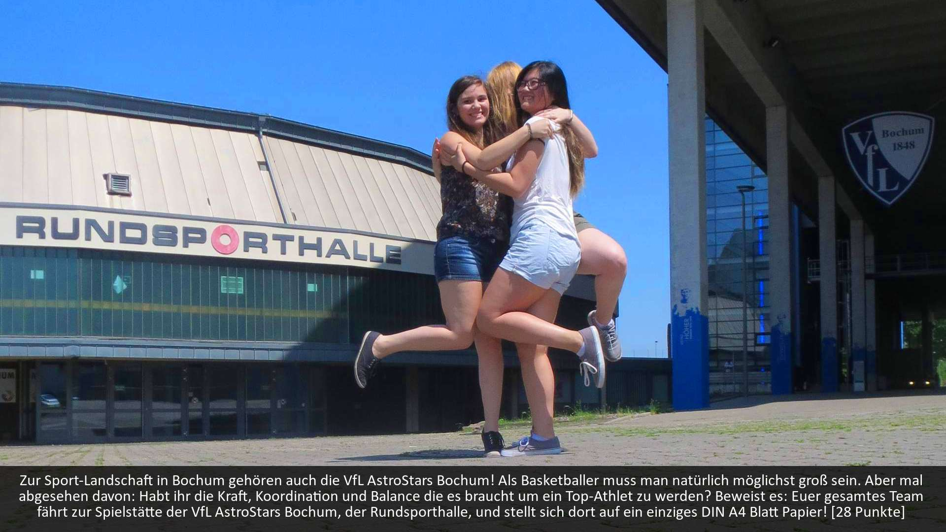 Scavenger Hunt Studenten Basketballarena
