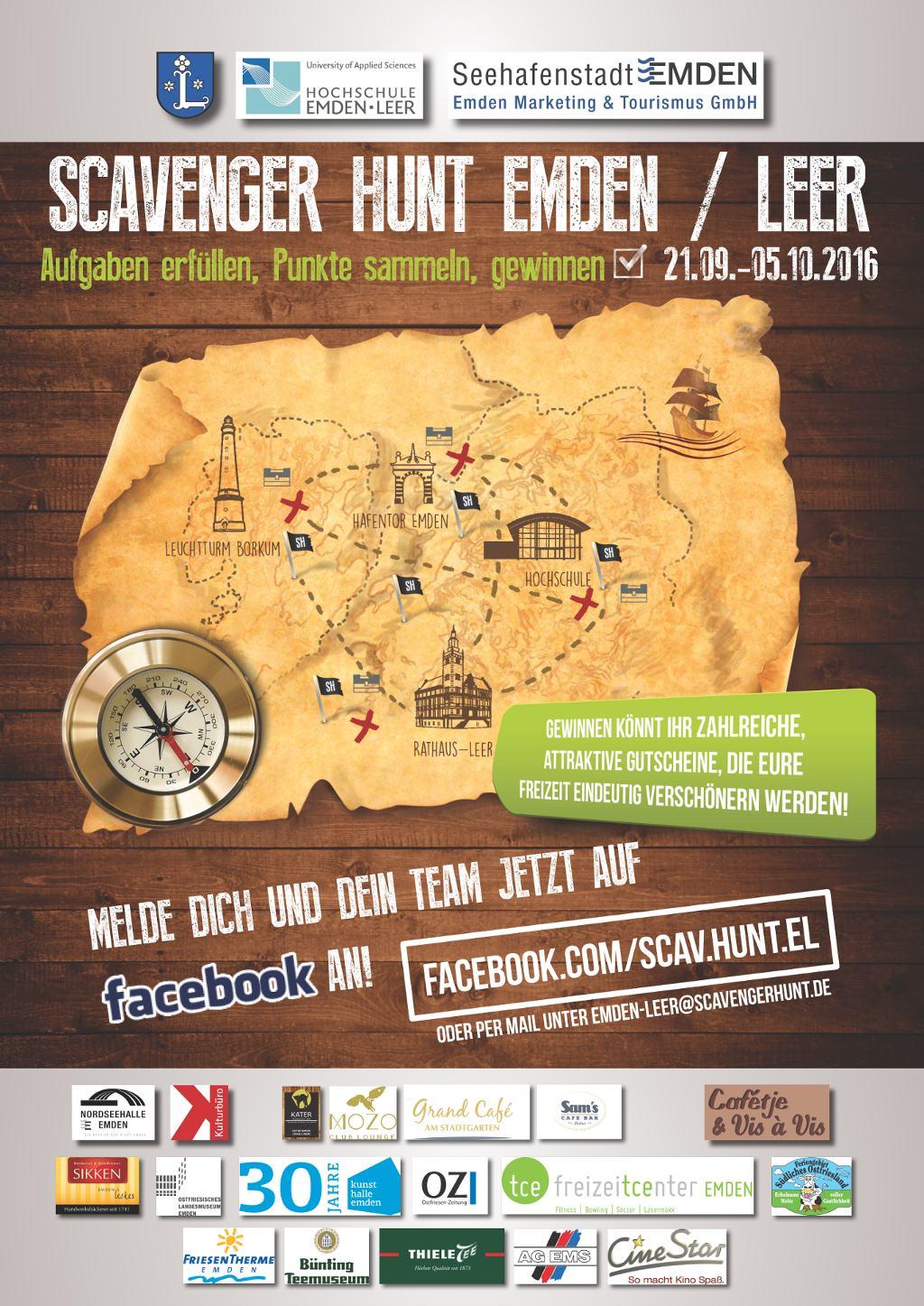 Scavenger Hunt Emden/Leer Plakat