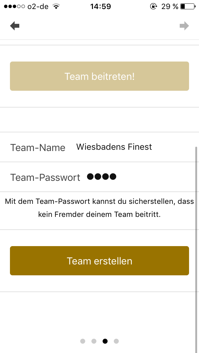 Scavenger Hunt App Teampasswort