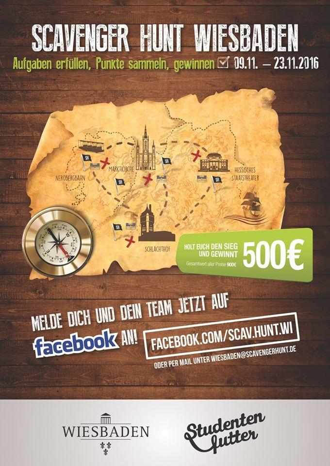 Scavenger Hunt Wiesbaden Plakat