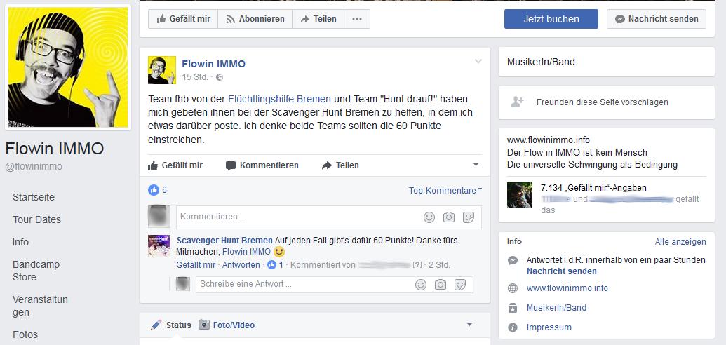 FlowinImmO drückt dem Team der Flüchtlingshilfe Bremen die Daumen.