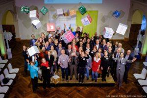 """Gruppenfoto bei dem Wettbewerb """"Zunkunft-fertig-los"""" vom Rat für Nachhaltige Entwicklung"""