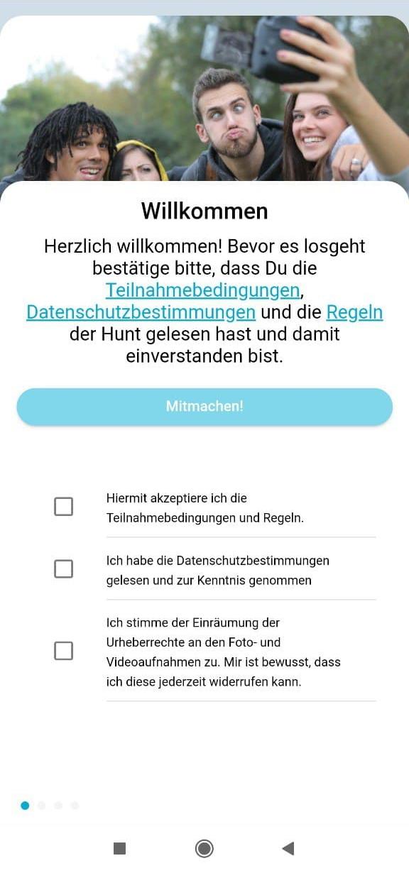 Scavenger Hunt App Teampasswort